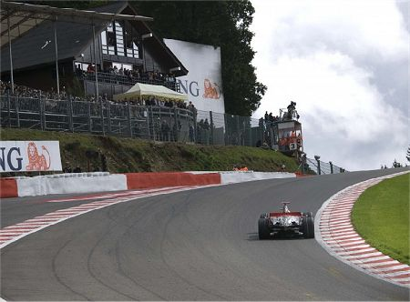 Hamilton at Eau Rouge