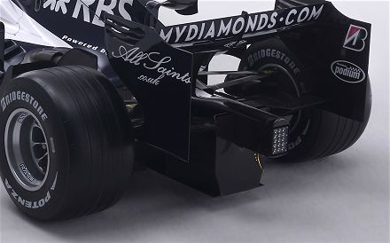 Rear view Williams FW30