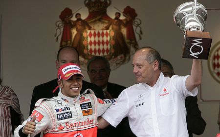 Ron Dennis and Lewis Hamilton