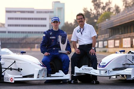 Alexander Rossi and Dr Theissen